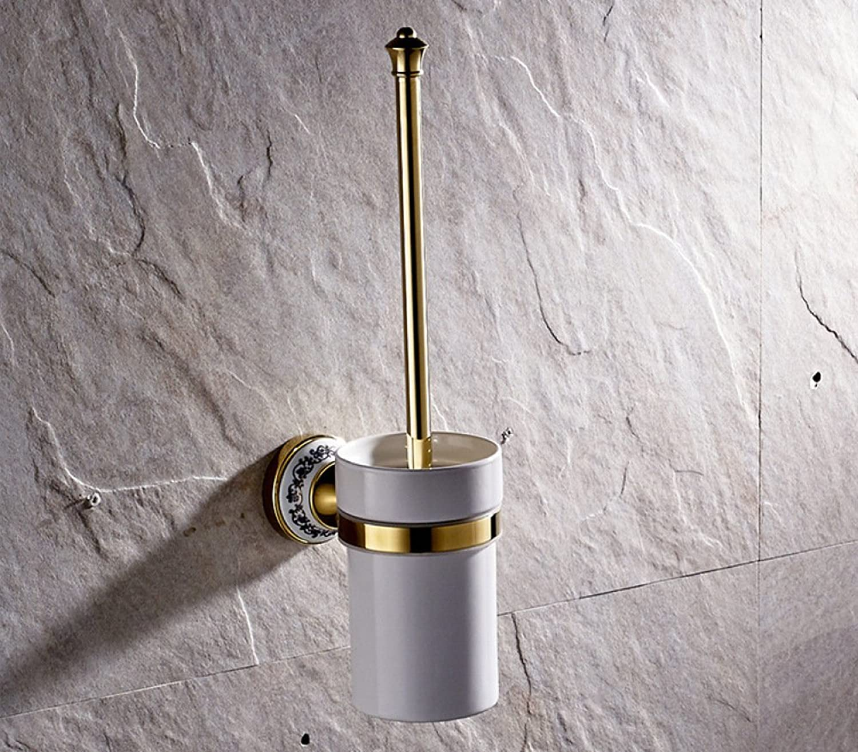 mejor calidad mejor precio Suministros de muebles R & & & Y R&Y Escobilla para Inodoro Baado en oro de Latón Accesorios de Bao de Dibujo a Mano con cerdas de Cerámica para Inodoro  Web oficial