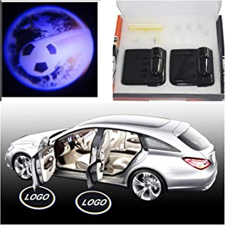2X Football Car Door Welcome Ghost Shadow Puddle Spotlight Laser Projector LED 3D Astronaut Courtesy Emblem Logo Light Fit Ford, BMW, VW, Audi, Toyota, Honda etc