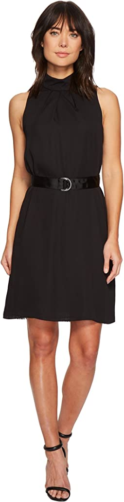 Ellen Tracy - Sleeveless High Neck Trapeze Dress