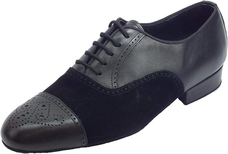 Vitiello Dance chaussures  291B Nabuk noir   Nappa noir t20 fondo crosta, Chaussons de danse pour homme Noir noir
