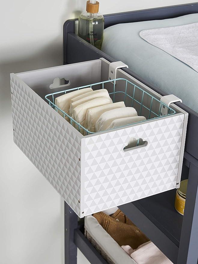 Vertbaudet Boite De Rangement Speciale Table A Langer Blanc Tu Amazon Fr Cuisine Maison