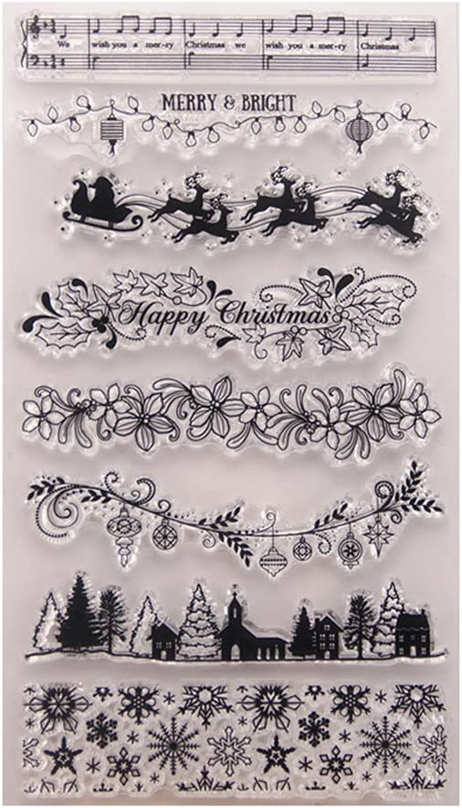 Thobu Clear Stamps Planner-Xmas Tree DIY Silicone Special sale item Cl New products world's highest quality popular Stamp