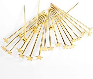 Stainless Steel Star Cocktail Picks Martini Picks, Gold Reusable Cocktail Skewers Pack of 20