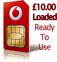 UK Vodafone Prepaid Sim Card w/ GBP £10.00 Loaded **Shipping From USA