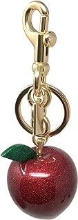 Coach Red Glitter Resin Apple Bag Charm Keychain, F32214