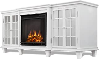 Real Flame Marlowe Electric Entertainment Fireplace in White Finish