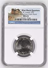 2019 W Lowell National Historical Park, MA - Great American Coin Hunt Label Quarter MS65 NGC