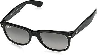 RB2132 New Wayfarer Polarized Sunglasses, Black/Polarized Gray Gradient, 55 mm