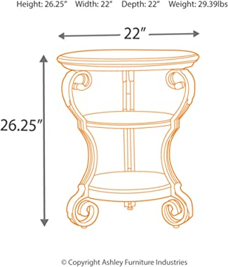 Signature Design by Ashley - Wadeworth Chair Side End Table, Brown/Black