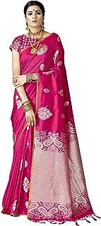 VARKALA SILK SAREES Women's Kanjiwaram Banarasi Silk Saree (Free Size)