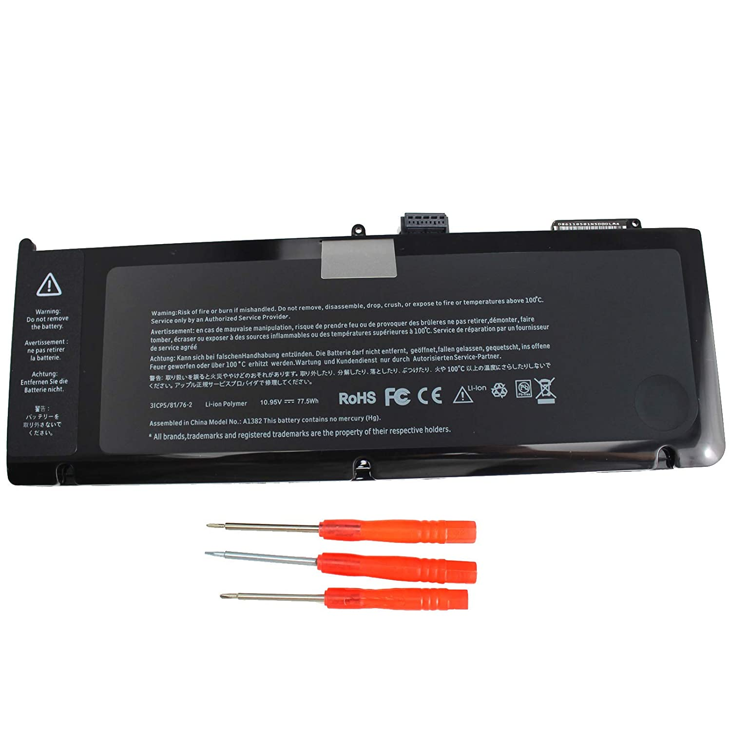 Gomarty A1382 Laptop Battery Compatible for MacBook Pro 15