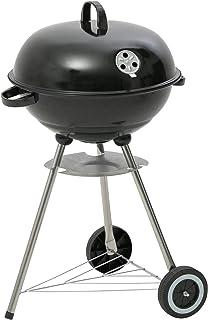 Kamino BBQ Barbacoa Arizona , Barbacoa-Parrilla con ruedas, Rejilla redonda con controlador de suministro de aire y tapa con termómetro, 54 x 87,5 x 47,5 cm