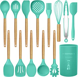 14 Pcs Silicone Cooking Utensils Kitchen Utensil Set,446°F Heat Resistant,Turner..
