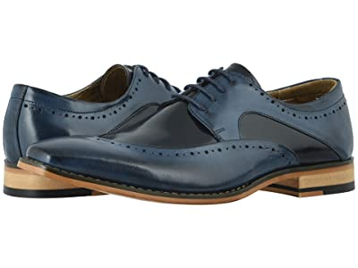 Stacy Adams Tammany Folded Moc Toe Oxford (Cobalt/Navy) Men