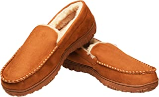 CareBey Mens Comfortable Warm Moccasin Slippers