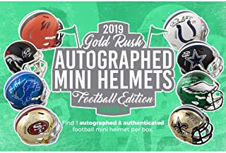 gold rush autographed mini helmet