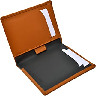 Portefeuille Homme Slim Marron Camel et Gris - Cuir Naturel Véritable - Blocage RFID - 11 cartes de crédit, Porte Monnaie ...