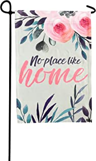 Garden Flag - No Place Like Home Double Sided Decorative Flags for Outdoors - Weather Tested and Fade Resistant USA Designed - Best for Party Yard and Home Outdoor Decor - 12x18 inches