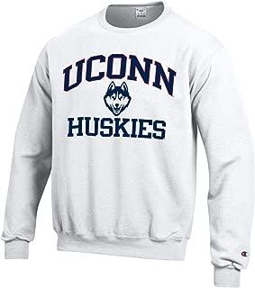 Champion University of Connecticut U.Conn. Huskies Crew Neck Sweatshirt-White