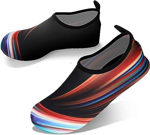 JOTO Water Shoes for Women Men Kids, Barefoot Quick-Dry Aqua Water Socks Slip-on Swim Beach Shoes for Snorkeling Surf...