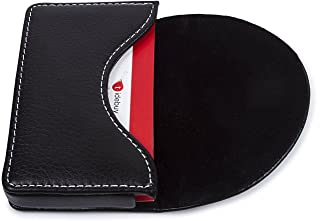 Leather Business Name Card Holder Case Wallet Credit Card Book with Magnetic Shut Black