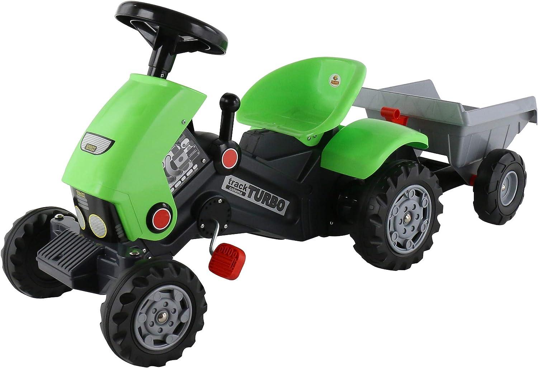 venta con descuento Polesie polesie52742Turbo-2Pedal Tractor Tractor Tractor y Remolque de Juguete  suministro de productos de calidad