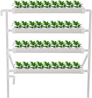 Mophorn Hydroponic Site Grow Kit 4 Layers 36 Plant Sites Hydroponic Growing System 4 Pipes Water Culture Garden Plant System for Leafy Vegetables Lettuce Herb Celery Cabbage