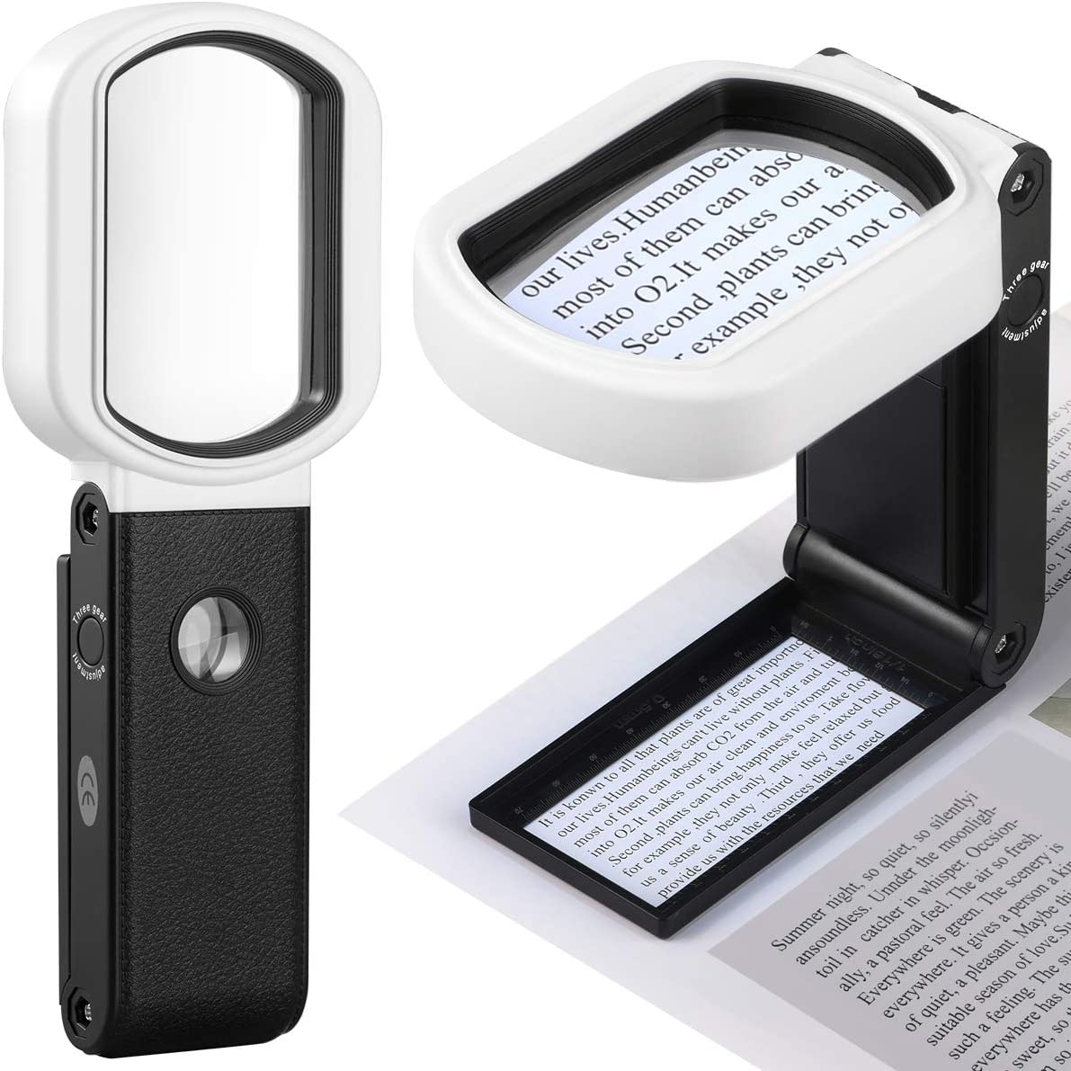 Magnifying Popular products Glass with Light 15X Handheld Magnif Challenge the lowest price of Japan 4X and Standing