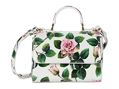 Dolce & Gabbana Kids Borsaspalla-Tracolla Vernice S (Rose Rosa Fdo.Panna) Bags