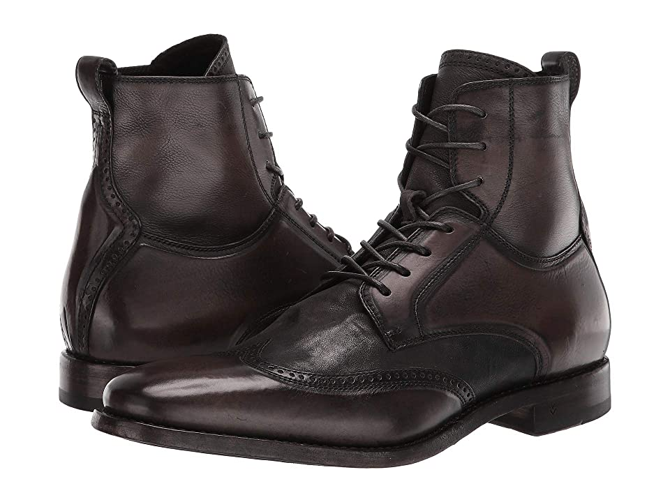 John Varvatos Collection Irving Panelled Wing Tip Boot (Steel Grey) Men