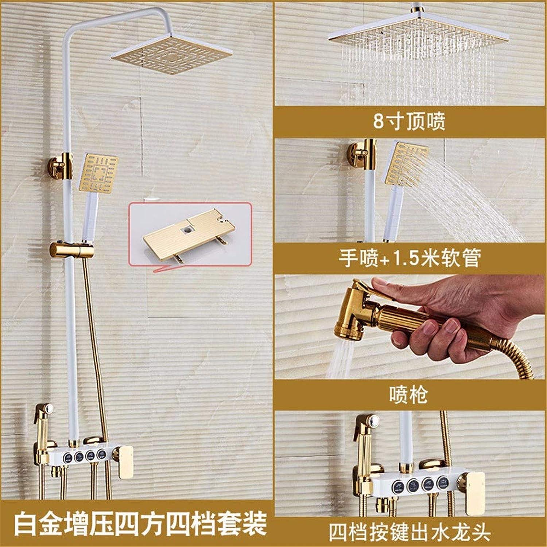 Hotelbadezimmer Booster-Duschset Warmes Und Kaltes Wasser Mit Bidetdusche Kupferdusche Viergangdusche Duschset Platin-Boost.