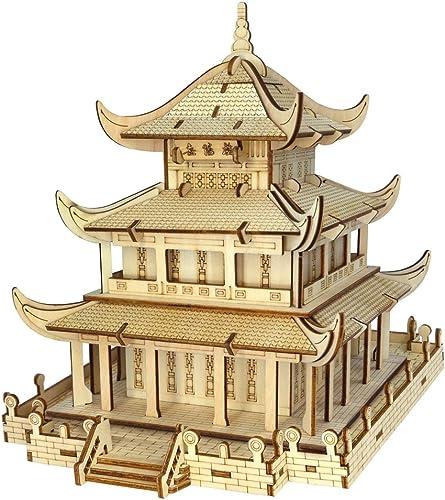 ahorra hasta un 30-50% de descuento Wq zxc Rompecabezas 3D 3D 3D Yueyang Building Tridimensional Rompecabezas Procesamiento De Corte por Láser para Niños Modelo De Edificio Educativo Modelo De Bricolaje  la mejor selección de