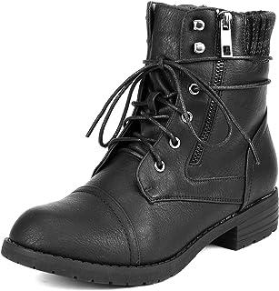 928c28d5be11 DREAM PAIRS Women s Amazon Mid Calf Combat Riding Boots