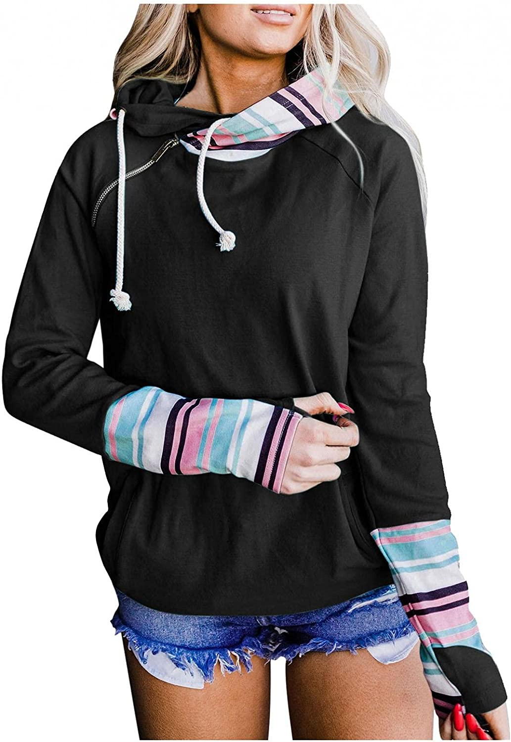 Gerichy Hoodies for Women, Womens Long Sleeve Drawstring Fall Hoodies Cute Oversized Sweater Cool Hoodies with Pocket