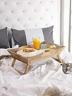 Artesia Mango Wood Foldable Breakfast Table, Stockton Bed Table, Serving Tray