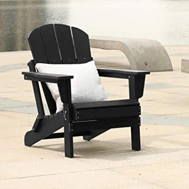 Folding Adirondack Chairs Patio Chairs Lawn Chair Outdoor Chairs Painted Adirondack Chair Weather Resistant for Patio Deck Ga
