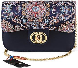 Artisan made women handbag, elegant woven Kilim Boho style shoulder bag Oriental tapestry pattern purse