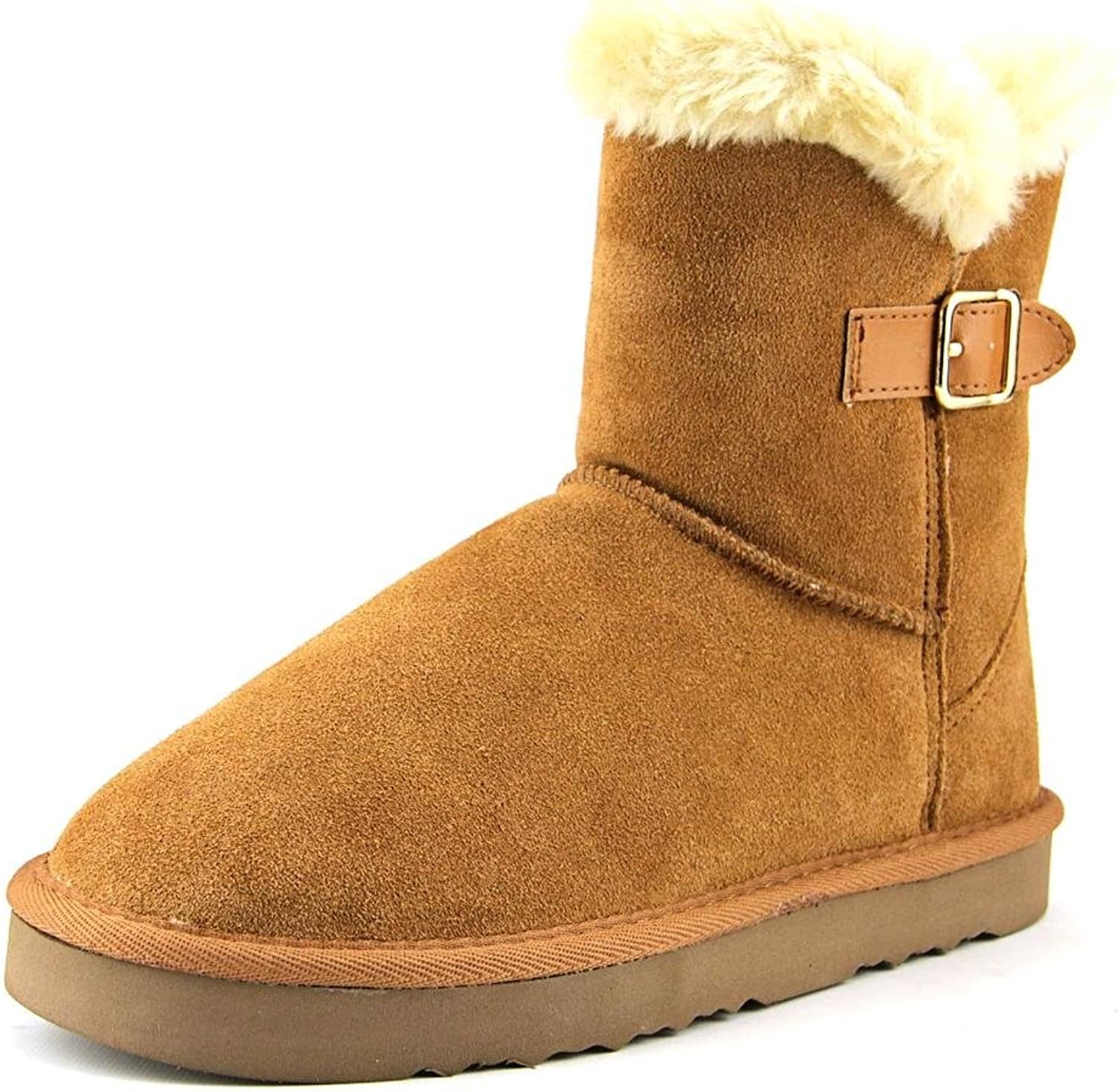 Style & Co.. Womens TINY2 Suede Round Toe Ankle Cold Weather, Chestnut, Size 11.0