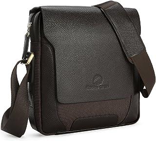 Koolertron Men Male Genuine Leather Shoulder Bag Handbags Briefcase For The Office Messenger Bag (Black)