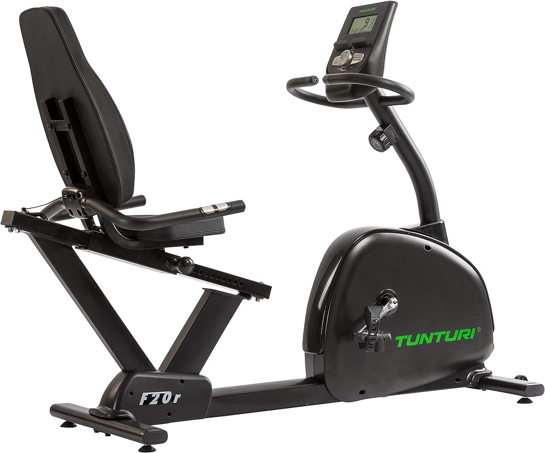 TUNTURI F20-R Competence National uniform free shipping Series Recumbent Indefinitely Exercise Bike Black