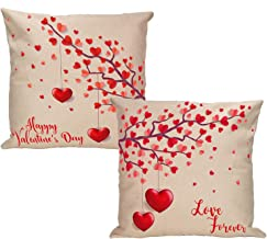 VILIGHT Love Tree Throw Pillow Covers with Hearts - Couples Pillow Cases Set of 2-18 x 18 Inch