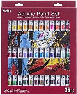Darice 30078221 Assorted Studio 71 Acrylic Paint Set Colors, 12mL Tubes, 36 Pieces