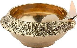 Shubhkart Traditional Brass Kuber deep / Diya / Indian Oil Lamp