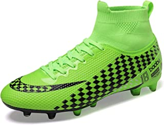 WOWEI Football Boots Men High Top Spike Soccer Shoes Outdoor Training Football Shoes Sneakers