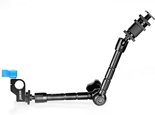 Neewer 30cm/11.8inch Aluminum Alloy Articulating Magic Arm with 15mm Rod Clamp for Mounting LED Light, Monitor, Flash...