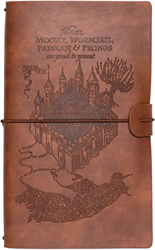 Erik® - Ensemble Carnet de Voyage Harry Potter | Carnet de Notes 2 en 1 | Notebook Simili Cuir