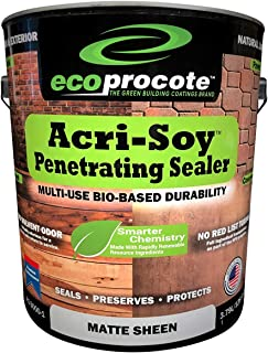 Concrete Sealer & Wood Sealer, Clear Sealant, Paver Sealer, Driveway Sealer, Wood Deck Sealer - Acri-Soy Penetrating Sealer (1 Gallon)