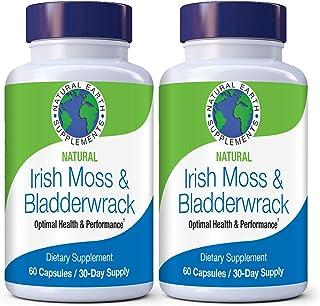 Natural Irish Moss & Bladderwrack, Thyroid Support, Detox, Gut Health, Anti Inflamatory, Anti- Aging, Immune Support, Keto Friendly 60 Day Supply