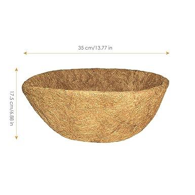 Fodere di Ricambio per cestini Rotondi con Fodera in Tessuto Non Tessuto per Giardino di casa Balcone Vaso da Fiori 10 Pollici Richaa 2 Pezzi Coco Fodere per cesti appesi