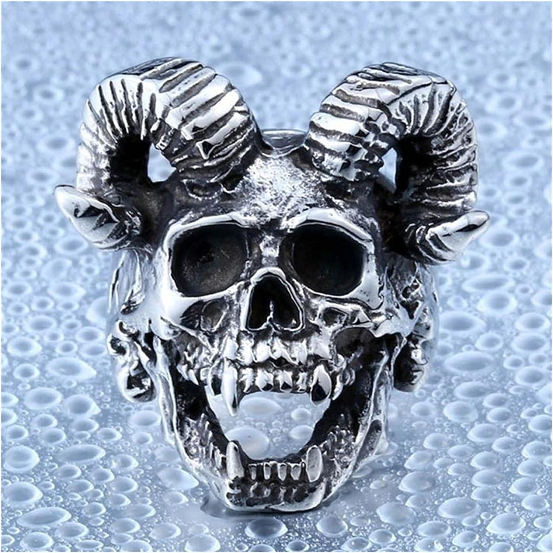 JIAH Ring Unique Japan Maker New Punk Gothic Satanic Skull Superior Head M Demon Ram